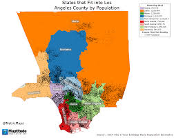 West Los Angeles Map by Map Of Southern Los Angeles County California With Population
