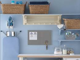 Laundry Room Wall Storage Wall Shelf With Rattan Basket As Laundry Room Storage Ideas