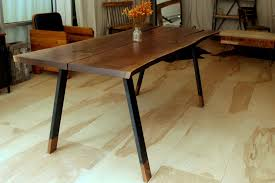 bookmatched walnut dining table u2013 recycled brooklyn