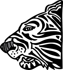 391 best the free clip art of tiger clipart black and white 391 best side view