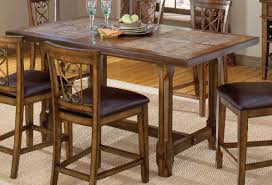 high dining room chairs hillsdale villagio trestle counter height dining table dark