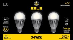 Daylight Led Light Bulbs by Sels Led A19 Dimmable 60 Watt Equivalent Led Light Bulb E26