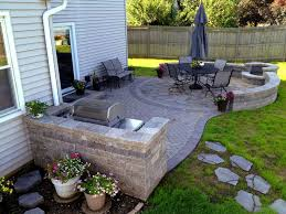 Stamped Concrete Backyard Ideas Patio Beautiful Patio Furniture Stamped Concrete Patio And