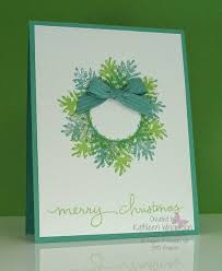 ornamental pine card and stin up