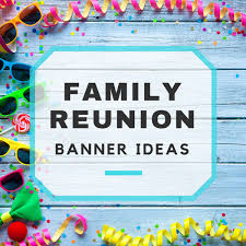 banner design for reunion