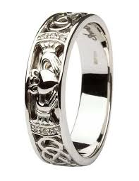 house wedding band celtic knot 14kt white gold solitaire diamond engagement