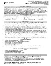 Hospital Resume Sample Cv Sample For Any Position Resume Writing Lab