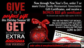 online restaurant gift cards outer banks restaurant gift certificates bonus offer