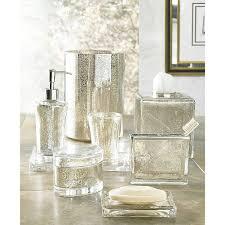 Contemporary Bathroom Accessories Sets - silver bathroom accessories 3piece silver fleur de lis bathroom