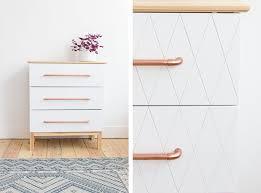 Tarva Daybed Hack Ikea Hack Tarva Dresser Geo Cut White Paint And Copper Handles