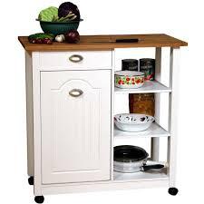 kitchen modern white portable kitchen island cart unit with wood
