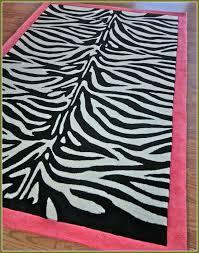 zebra print rug with pink trim home design ideas