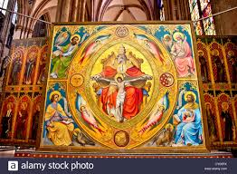 Cologne Cathedral Interior Cologne Germany Alter Painting In The Interior Of The Cologne