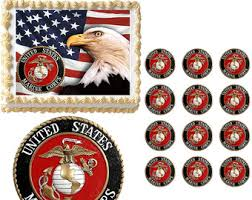 marine cake toppers marine corps edible cake topper image marine cake
