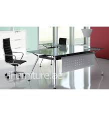 glass top l table elvaso glass top l shape executive desk ifurniture office furnitu