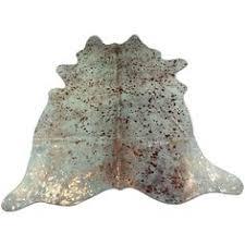 Real Cowhide Rug Salt U0026 Pepper Real Cowhide Leather Rug 6 U0027 X 7 U0027 Off White U0026 Browns