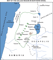 Ap World History Regions Map by Map Of Galilee And Northern Israel Bible History Online