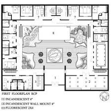central courtyard house plans fabulous u shaped house floor plans for designing home inspiration
