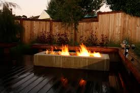 Deck Firepit Rectangular Pit Patio Contemporary With Deck Firepit
