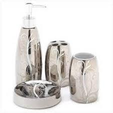 Silver Bathroom Accessories Sets Walmart Bathroom Accessories Sets Ashdown 3 Piece Bath