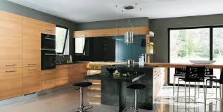 cuisine merisier cuisine moderne design et ouverte merisier naturel