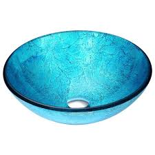 anzzi accent vessel sink in blue ice ls az047 the home depot