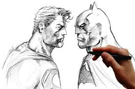 jim lee syle batman v superman speedsketch on a wacom cintiq youtube