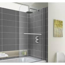 easyclean shower bath screen with towel rail premium ran 800mm easyclean shower bath screen with towel rail premium ran