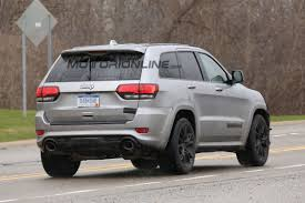 jeep hawk track jeep grand cherokee trackhawk spy shots jeep trackhawk forum