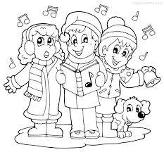 dibujos navideñas para colorear dibujo navideño para colorear de niños cantando villancicos etapa