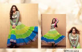 buy online traditional indian designer gherdar long anarkali suits