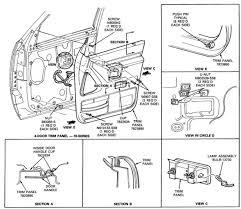 Ford Explorer 1991 - 1991 ford explorer a front passenger door handle door lock assembly