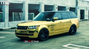 land rover chrome mc customs gold land rover range rover vellano wheels youtube