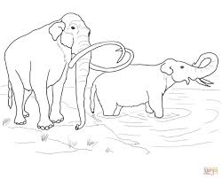 wooly mammoth coloring page beautiful 2145