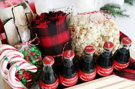 gift baskets ideas coca cola christmas gift basket idea free printable tags