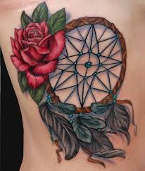 dreamcatcher and rose tattoo by katelyn crane tattoonow