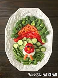 thanksgiving turkey vegetable tray he she eat clean healthy