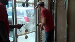 comercial glass doors how to install security film on tempered glass commercial door