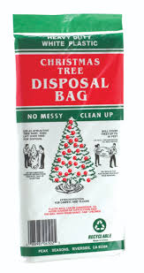 christmas tree disposal bag large