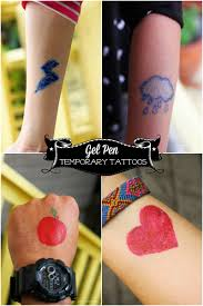 temporary gel pen tattoos