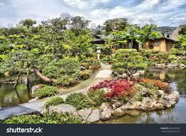 Japanese Style Garden by Nara Japan Isuien Garden Japanese Style Stock Photo 358491569