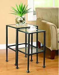 Metal Sofa Table Amazon Com Southern Enterprises Sofa Console Table Black With