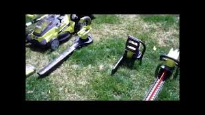 quick review of ryobi u0027s 40 volt lithium ion lawn tools youtube