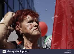sofia bulgaria 1st 2013 woman crowd stock