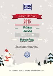 Christmas Carols Invitation Cards Heritage Middle Band Invites Community To Holiday Caroling