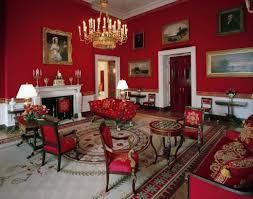 why does the white house have a red room and how is it used