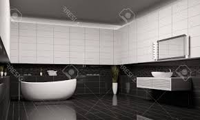 Dark Gray Bathroom by Black And White Modern Bathroom With Cream Painting Wall Dark Gray