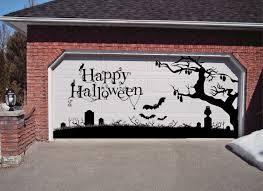small garage door sizes amazon com happy halloween garage door decoration holiday xtra