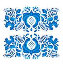 gorodets painting pattern floral ornament russian vector image