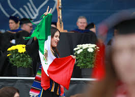 Mexixan Flag Undocumented Student Waves Mexican Flag At Ucsd Graduation The